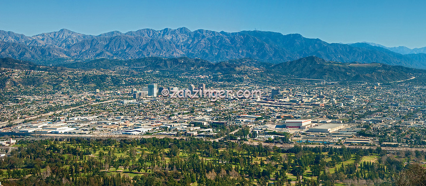 Glendale, CA, San Gabriel Mountains, Beautiful, Night, Lights, Fantastic View, Pasadena, Panorama