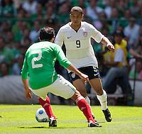 Charlie Davies. USA Men's National Team loses to Mexico 2-1, August 12, 2009 at Estadio Azteca, Mexico City, Mexico. .   .