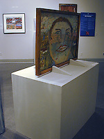 [133] [132] [paintings on both sides, supports to hold frame upright on min. dim. 24 x 43 base]<br />
