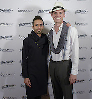New York City, NY. October 20, 2014. Aakash Odedra, Luke Clark Tyler pose for media at The 30th anniversary of The Bessies, the New York Dance and Performance Awards, held at the world famous Apollo Theatre in Harlem. Photo by Marco Aurelio/VIEWpress