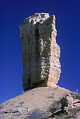 Rock Finger (Vingerklip) 35 meter tall erroded rocktower at the Ugab Terrances, Namibia, Africa
