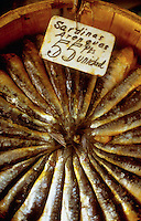 April 1988, Madrid, Spain --- A bucket of sardines for sale, Madrid, Spain. --- Image by &copy; Owen Franken/Corbis