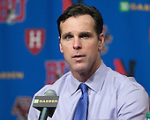 David Quinn (BU - Head Coach) - The Boston College Eagles defeated the Boston University Terriers 3-1 (EN) in their opening round game of the 2014 Beanpot on Monday, February 3, 2014, at TD Garden in Boston, Massachusetts.