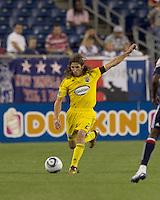 Columbus Crew defender Frankie Hejduk (2) fakes a pass. The New England Revolution tied Columbus Crew, 2-2, at Gillette Stadium on September 25, 2010.