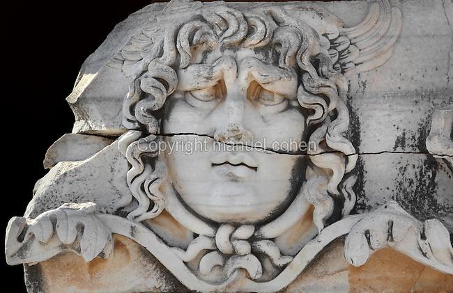 head of medusa  temple of apollo  didyma  aydin  turkey