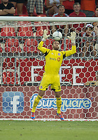 18 July 2012: Toronto FC goalkeeper Milos Kocic #30 in action during an MLS game between the Colorado Rapids and Toronto FC at BMO Field in Toronto..Toronto FC won 2-1..