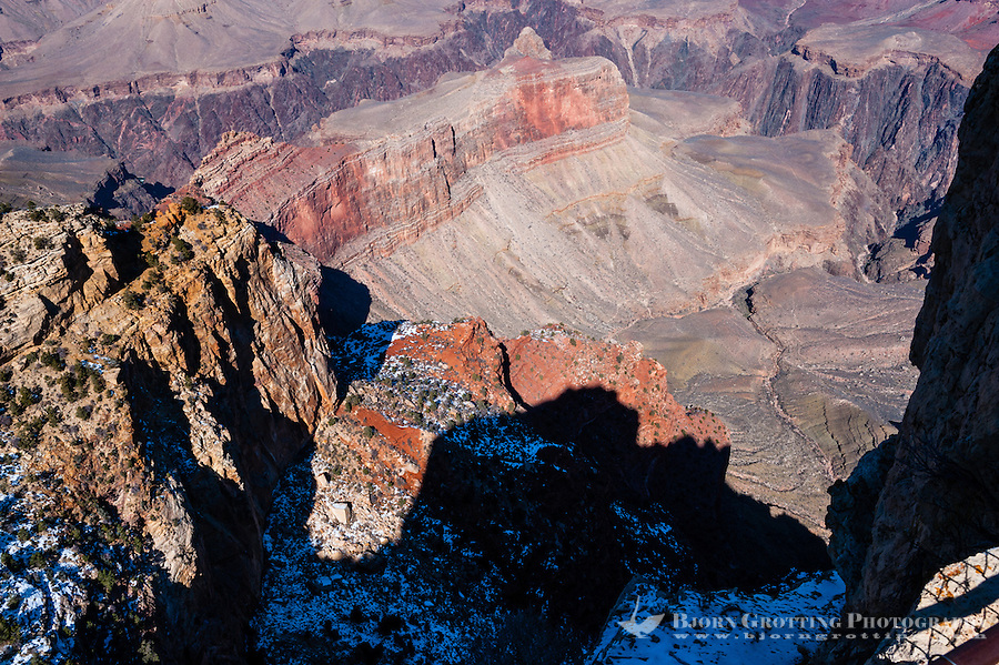 United States, Arizona, Grand Canyon. The views from Maricopa Point cover 180° of the Grand Canyon.