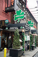 The Celtic Pub Irish pub and restaurant  in Midtown in New York is seen on Thursday, March 4, 2010. In advance for St. Patrick's Day. (© Richard B. Levine)