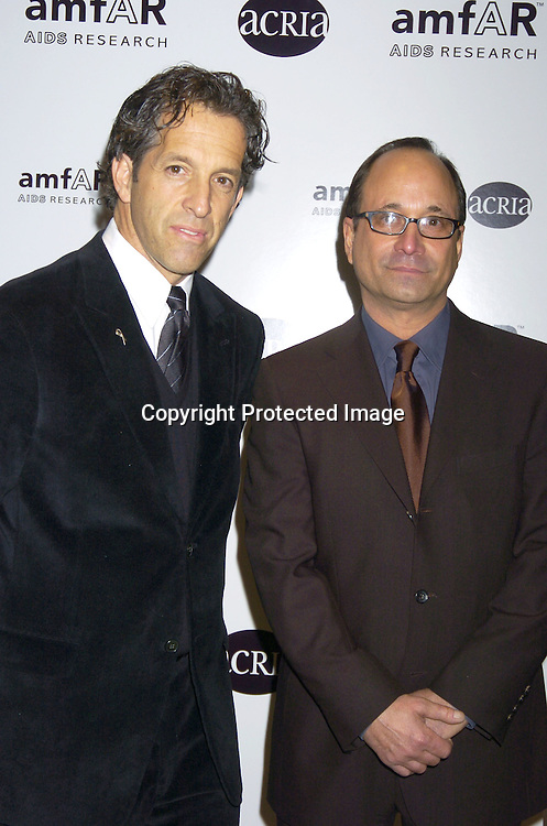 Kenneth Cole and Ross Bleckner..a benefit for amFAR and ACRIA  honoring Herb Ritts on ..February 2, 2005 at Sotheby's. Noted Contemporary artists..donated major works that were sold to benefit amFAR and ..Aids Community Research Initiative of America. ..Photo by Robin Platzer, Twin Images