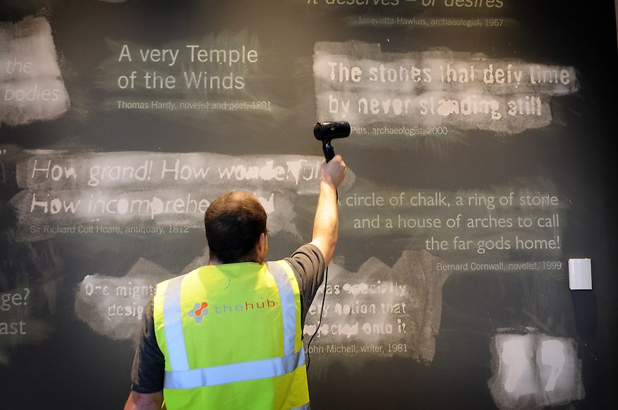 PREPARATIONS UNDERWAY AT THE NEW STONEHENGE VISITORS CENTRE.  PHOTO BY CLARE KENDALL/ENGLISH HERITAGE. 3/12/2013.