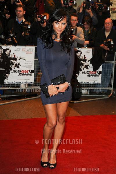 Lisa Maffia arriving for the 'Dead Man Running' premiere at the Odeon West End,  Leicester Square, London. 22/10/2009  Picture by: Steve Vas / Featureflash