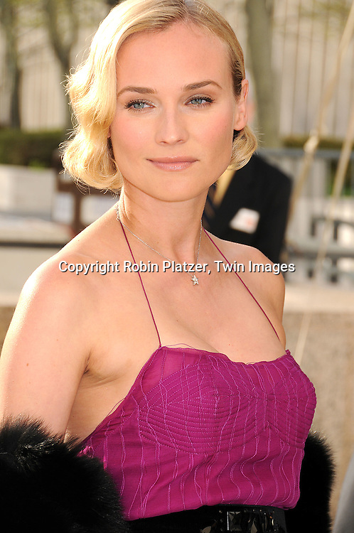 """Diane Kruger in Yves Saint Laurent dress..arriving at The Metropolitan Opera Opening Night Gala Benefit, underwritten by Yves Saint Laurent, on April 21, 2008 at The Metropolitan Opera House in Lincoln Center. ..The opening opera was  Donizetti's """"La Fille du Regiment.""""....Robin Platzer, Twin Images"""