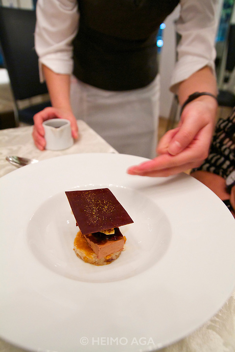 Singapore. Marina Bay Sands. Sky on 57 showcases a modern twist of Franco Asian Cuisine in a setting that offers a birds eye view of Singapore and the bay..Dessert.Chocolate Fantasy