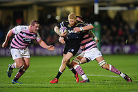 Tom Homer of Bath Rugby takes on the Cardiff Blues defence. European Rugby Challenge Cup match, between Bath Rugby and Cardiff Blues on December 15, 2016 at the Recreation Ground in Bath, England. Photo by: Patrick Khachfe / Onside Images