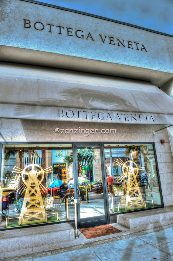 Bottega Veneta, Rodeo Drive, Luxury Shopping, Window Display, Beverly Hills, CA, , Vertical image