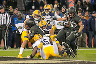 Baltimore, MD - December 10, 2016: Army Black Knights quarterback Ahmad Bradshaw (17) scores a touchdown during game between Army and Navy at  M&T Bank Stadium in Baltimore, MD.   (Photo by Elliott Brown/Media Images International)