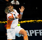 - Valencia Open 500 - Tennis.- David Goffin (BEL) (56) vs Pablo Andujar (ESP) (33).- Agora (Valencia-Spain).- 22/10/12