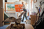 State Park Superintendent Kelly Claar packs up a closed visitor center at Brannan Island State Recreation Area near Rio Vista, Calif., June 13, 2012. Brannan Island is one of ten state parks to be taken over by a private concession in an effort to prevent mass park closures. CREDIT: Max Whittaker/Prime for The Wall Street Journal.CALPARKS.