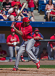 9 March 2014: St. Louis Cardinals first baseman Xavier Scruggs in action during a Spring Training game against the Washington Nationals at Space Coast Stadium in Viera, Florida. The Nationals defeated the Cardinals 11-1 in Grapefruit League play. Mandatory Credit: Ed Wolfstein Photo *** RAW (NEF) Image File Available ***