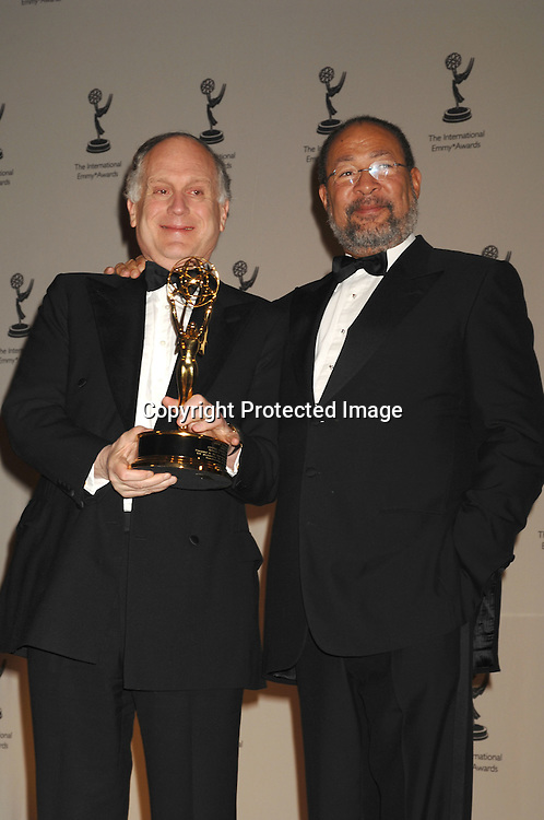 Ronald Lauder and Richard Parsons..at The 2006 International Emmy Awards Gala press room on   November 20, 2006 at The New York Hilton. ..Photo by Robin Platzer, Twin Images
