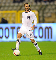 Kyle Beckerman of team USA during the friendly match Belgium against USA at King Baudoin stadium in Brussel, Belgium on September 06th, 2011.