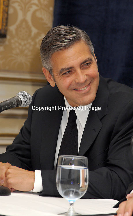 George Clooney ..at a press conference for The Interfaith Alliance Foundation ..where George Clooney was honored with the Walter Cronkite Faith and Freedom Award on November 1, 2006..at The Essex House. ..Robin Platzer, Twin Images