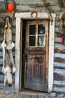 Entry to the historic Igloo #8 log Cabin, Wiseman, Alaska