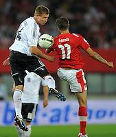 Fussball International  WM Qualifikation 2014   11.09.2012 Oesterreich - Deutschland Holger Badstuber (li, Deutschland) gegen Martin Harnik (Oesterreich)
