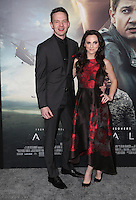 "Westwood, CA - NOVEMBER 06: Mark O'Brien, Georgina Reilly at Premiere Of Paramount Pictures' ""Arrival"" At Regency Village Theatre, California on November 06, 2016. Credit: Faye Sadou/MediaPunch"