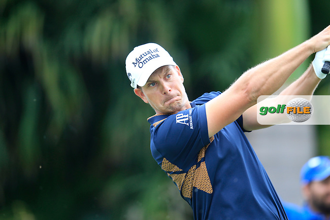 Henrik Stenson (SWE) during the final round of the WGC Cadillac Championship, Blue Monster, Trump National Doral, Doral, Florida, USA<br /> Picture: Fran Caffrey / Golffile