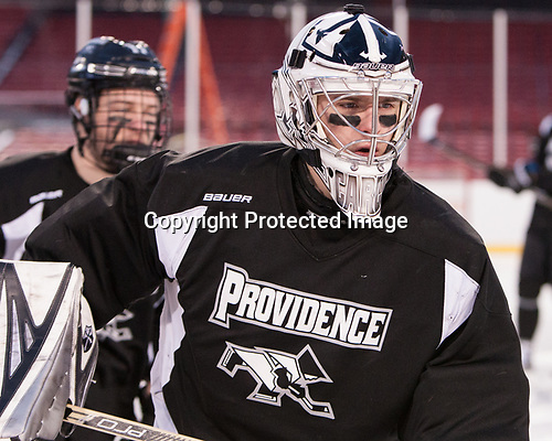 Kris Carlson (PC - 30) - The Providence College Friars practiced at Fenway on Friday, January 6, 2017, in Boston, Massachusetts.