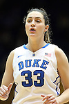 22 February 2013: Duke's Haley Peters. The Duke University Blue Devils played the Florida State University Seminoles at Cameron Indoor Stadium in Durham, North Carolina in a 2012-2013 NCAA Division I and Atlantic Coast Conference women's college basketball game. Duke won the game 61-50.