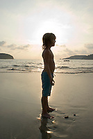 Lucas play's in the sunset. photo shoot in Zihua with Federico Rigoletti and family, Diego Garcia and his daughters, and the Wiseman family as part of the Puntarena cook book