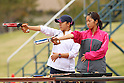(L to R) Narumi Kurosu (JPN), Shino Yamanaka (JPN), OCTOBER 30, 2011 - Modern Pentathlon : The 2nd All Japan Women's Modern Pentathlon Championships pistol shooting at JSDF Physical Training School, Saitama, Japan. (Photo by YUTAKA/AFLO SPORT) [1040]