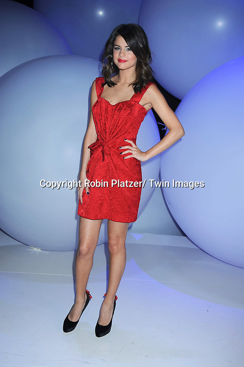 Selena Gomez attending The Disney Kids and Family Upfront 2011-2012  on March 16, 2011 at Gotham Hall in New York City.