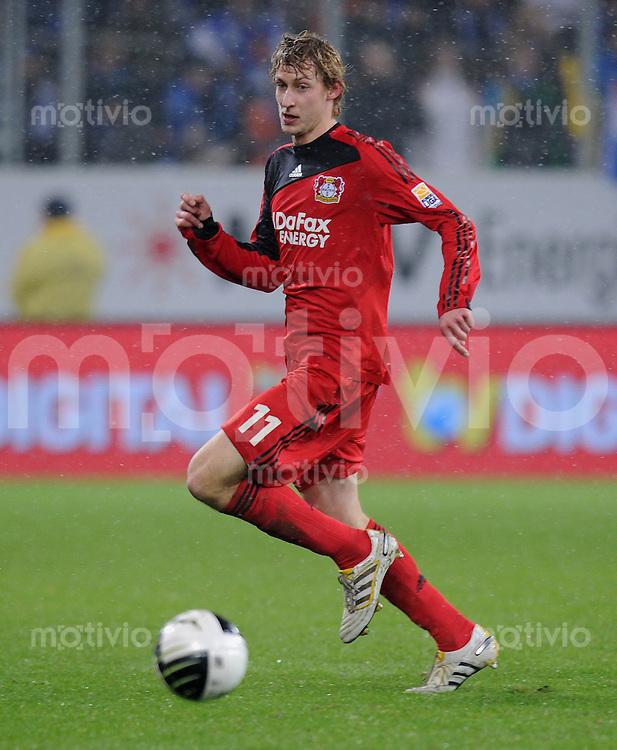 Fussball 1. Bundesliga   Saison   2009/2010  19. Spieltag  24.01.2010 1899 Hoffenheim -  Bayer Leverkusen Stefan Kiessling  (Bayer) am Ball