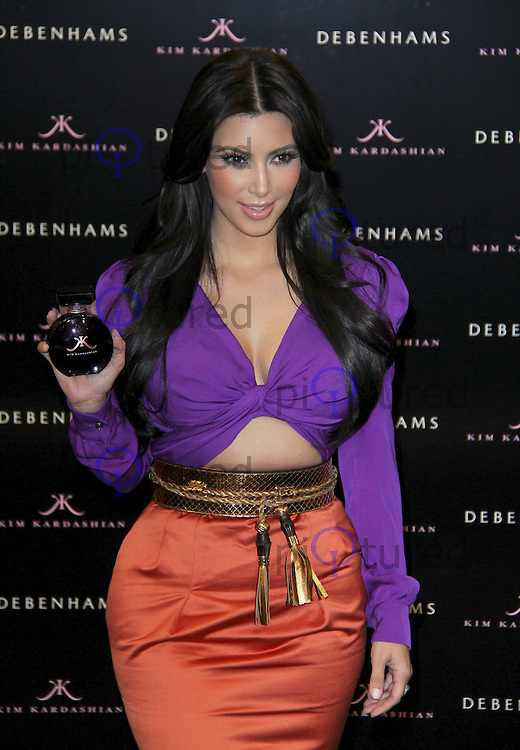 Kim Kardashian - Launch of new Fragrance, Debenhams, Oxford Street, London, UK, 08 June 2011:  Contact: Rich@Piqtured.com +44(0)7941 079620 (Picture by Richard Goldschmidt)