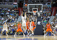 Shabazz Napier shoots a long jumper. Connecticut defeated Bucknell 81-52 during the NCAA tournament at the Verizon Center in Washington, D.C. on Thursday, March 17, 2011. Alan P. Santos/DC Sports Box