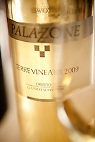 Terre Vineate, Orvieto Classico D.O.C. Superiore, wine produced at Palazzone Vineyards, near Orvieto, Umbria, Italy.  The name of the wine was chosen from the medieval term for vineyard.
