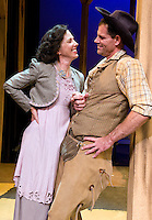 NEWS&GUIDE PHOTO / PRICE CHAMBERS.One of the love stories in Petticoat Rules focuses on the characters Cissy Patterson and Cal Carringon, played by Caryn Flanagan and Jamie Reilly. The play opens at Center for the Arts on July 16.