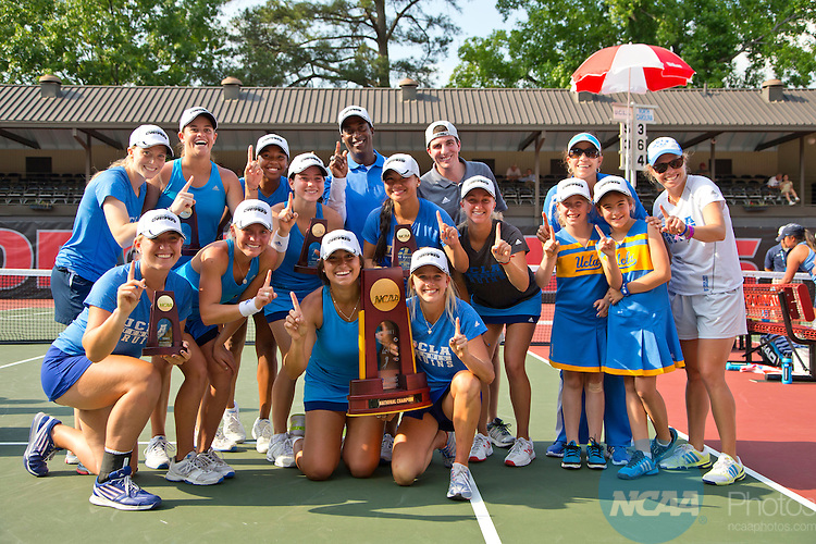 20 MAY 2014:  University of North Carolina during the Division I Women's Tennis Championship held at the Dan Magill Tennis Complex on the University of Georgia campus in Athens, GA.  UCLA defeated North Carolina 5-3 to win the national title.  Matt Marriott/NCAA Photos