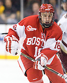 Wade Megan (BU - 18) - The Boston College Eagles defeated the Boston University Terriers 3-2 (OT) in their Beanpot opener on Monday, February 7, 2011, at TD Garden in Boston, Massachusetts.