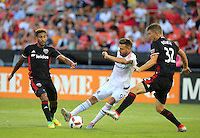 Washington, D.C. - Saturday, August 27, 2016: D.C. United defeated the Chicago Fire 6-2 in a MLS match at RFK Stadium.