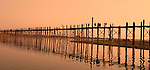 U Bein's Bridge, Mandalay, Burma; the longest teak bridge in the world