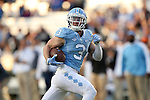 19 November 2016: UNC's Ryan Switzer races into the endzone on a 72 yard touchdown pass play. The University of North Carolina Tar Heels hosted the The Citadel, The Military College of South Carolina Bulldogs at Kenan Memorial Stadium in Chapel Hill, North Carolina in a 2016 NCAA Division I College Football game. UNC won the game 41-7.