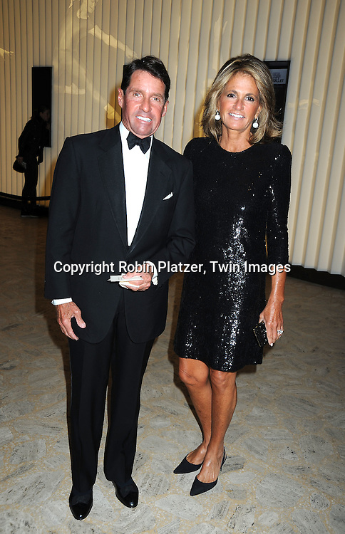 """Christopher and Grace Meigher posing for photographers at the 26th Annual Literacy Partners Gala with Star-Studded """"Evening of Readings""""  on May 10. 2010 at The Koch Theatre at Lincoln Center in New York City."""