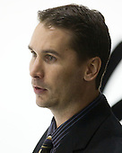 Devin Rask (Providence - Assistant Coach) - The Northeastern University Huskies defeated the visiting Providence College Friars 5-0 on Saturday, November 20, 2010, at Matthews Arena in Boston, Massachusetts.