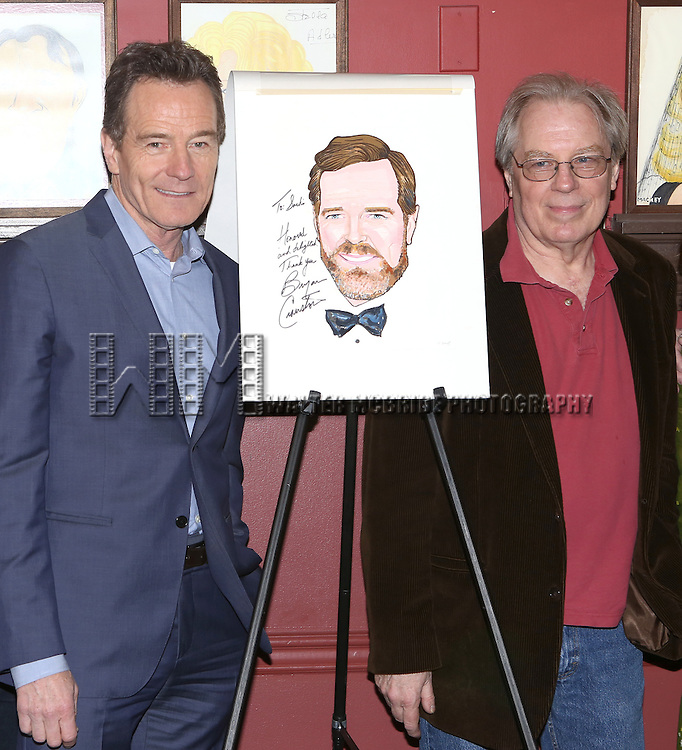 Bryan Cranston and Michael McKean attend the Sardi's Caricature Unveiling for Bryan Cranston on May 29, 2014 in New York City