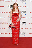 LONDON, UK. October 14, 2016: Ellie Bamber at the London Film Festival 2016 premiere of &quot;Nocturnal Animals&quot; at the Odeon Leicester Square, London.<br /> Picture: Steve Vas/Featureflash/SilverHub 0208 004 5359/ 07711 972644 Editors@silverhubmedia.com
