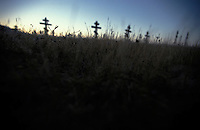 Russian Orthodox cemetery in Northern California<br />